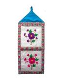 2 pocket Rukiye's Big Flowers 600 23.5x9.5in   $35