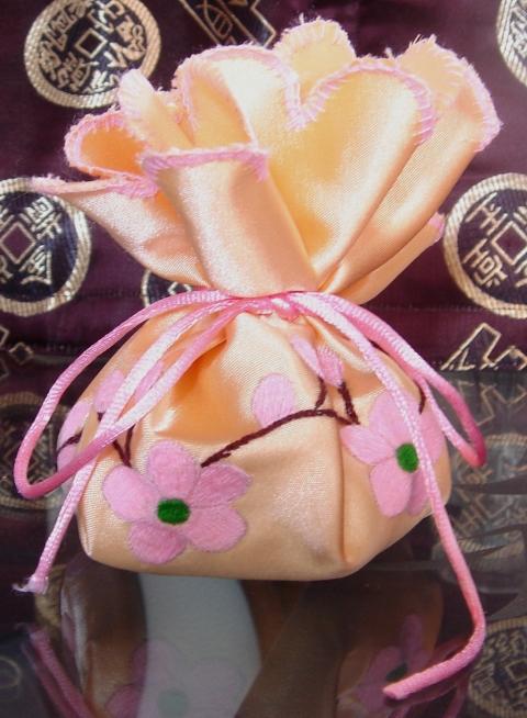 Pink Flowers Sachet $8